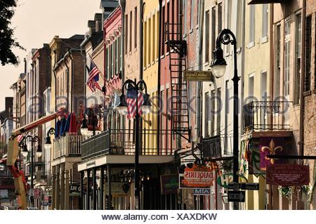French Quarter, New Orleans, Louisiana, USA, United States, America, fassades - Stock Photo