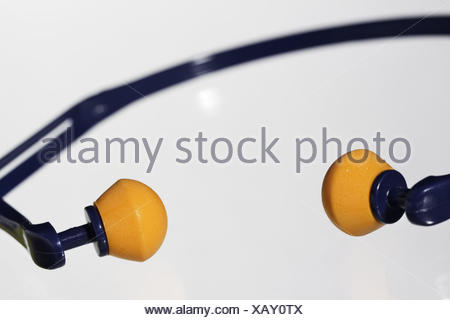 Ear defender, hearing, protection, loudly, noise prevention, noise, ears, work, ear protection, medium close-up, - Stock Photo