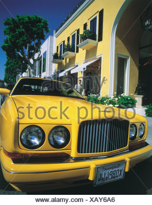 Rodeo Drive, Beverly Hills, Los Angeles, California USA - Stock Photo