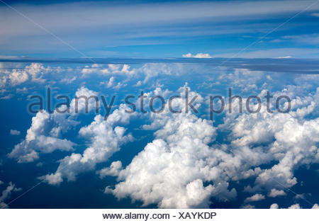 clouds against the blue sky - Stock Photo