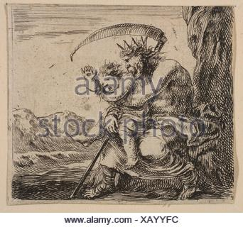 Saturn, from ´Game of Mythology´ (Jeu de la Mythologie). Series/Portfolio: ´Game of Mythology´ (Jeu de la Mythologie); Artist: Etched by Stefano - Stock Photo