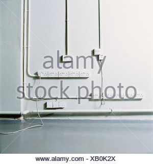 Electrical sockets on a wall - Stock Photo