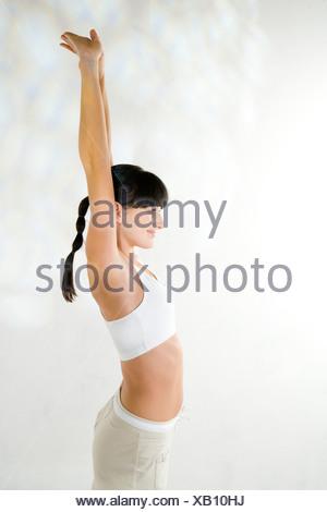 woman training yoga - Stock Photo