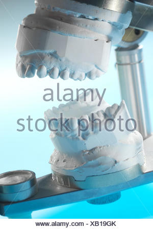 manufacture of denture - Stock Photo