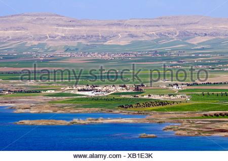 Asad reservoir of the Euphrates, Syria, Asia - Stock Photo