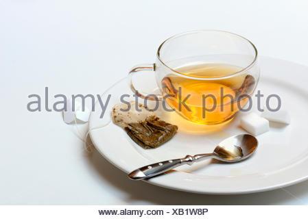 Tasse Tee mit Teebeutel - Stock Photo