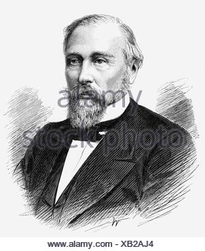 Katkov, Mikhail N., 13.2.1818 - 1.8.1887, Russian journalist, portrait, wood engraving, Additional-Rights-Clearances-NA - Stock Photo