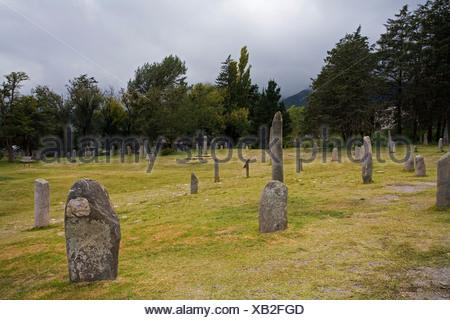 Stone plates El Mollar near Los MenhiresTafi del Valle, Argentina, South America - Stock Photo