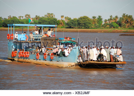 Nile ferry, Karima, Sudan - Stock Photo