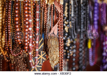 Colorful necklaces - Stock Photo