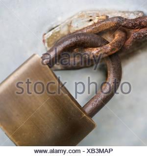 Close up of padlock - Stock Photo