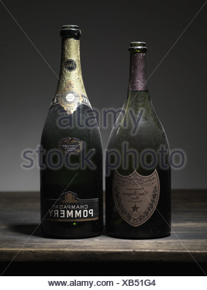 Two bottles of Champagne - Stock Photo