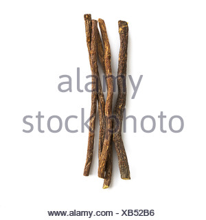 Liquorice Glycyrrhiza glabra root - Stock Photo
