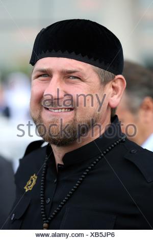 Dubai, United Arab Emirates, Achmatowitsch Ramzan Kadyrov, President of the Chechen Republic - Stock Photo