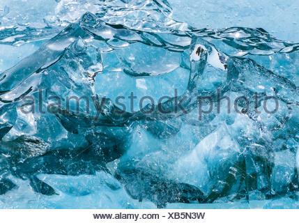 Aerial view of Alaska's glacial coast. - Stock Photo