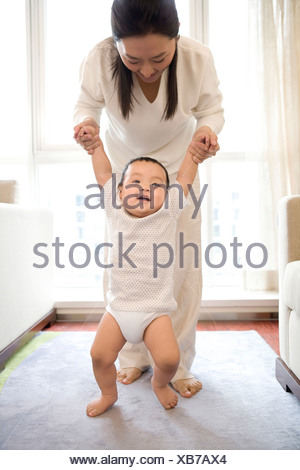 Woman with infant - Stock Photo