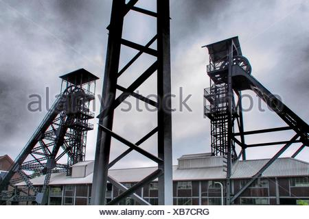 Industrial Le belgium charleroi at the former mine of le bois du cazier at