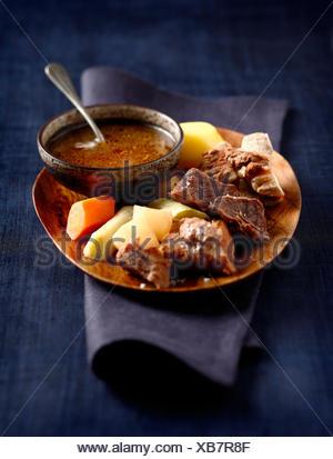 Pot-au-feu with four spices - Stock Photo