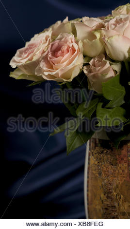 Large bouquet of roses in vase - Stock Photo