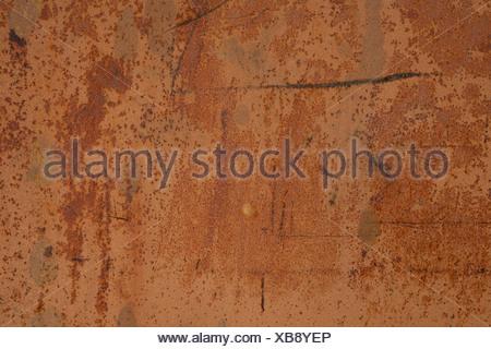Iron plate with rusty patina - Stock Photo