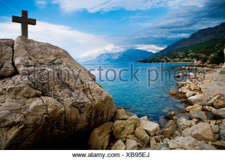 Adriatic coast near Split in Croatia, Europe - Stock Photo