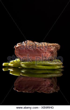 beef steak medium rare - Stock Photo