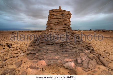 Afar-grave of a warrior, between Afdera and Ertale - Stock Photo