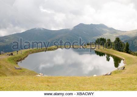Isskogel mountain peak near Gerlos, Tyrol, Austria - Stock Photo