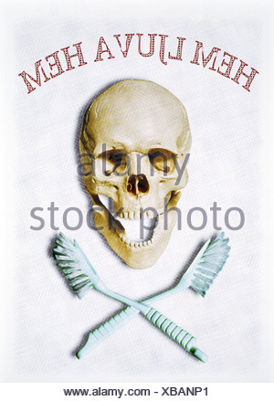 Tooth jolly roger - Stock Photo