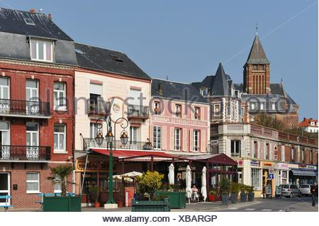 Mers-Les-Bains, Somme department, Picardie region, France, Europe - Stock Photo