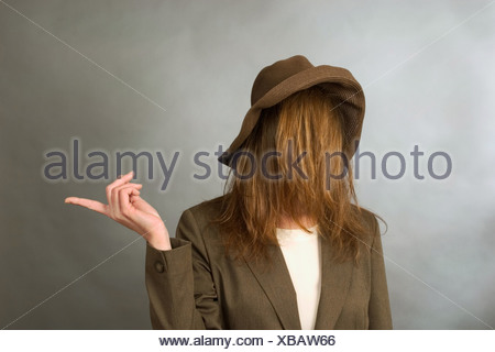 0b778325dc1 A woman with hair completely covering her face Stock Photo ...