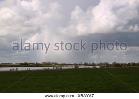 Rain clouds over East Frisia