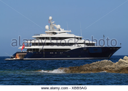 Amaryllis, a cruiser built by Abeking & Rasmussen, length: 78.43 meters, built in 2011, French Riviera, France, Europe - Stock Photo