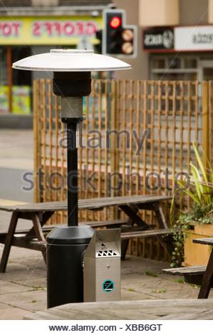 ... A Patio Heater Outside A Pub In Loughborough UK   Stock Photo