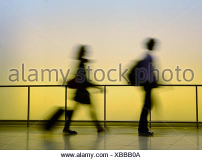 traveling man and woman - Stock Photo