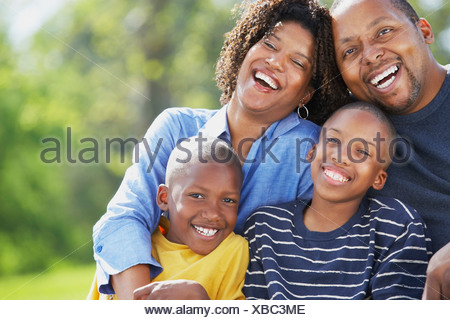 Knoxville, Tennessee, United States Of America; Portrait Of A Family With Two Sons - Stock Photo