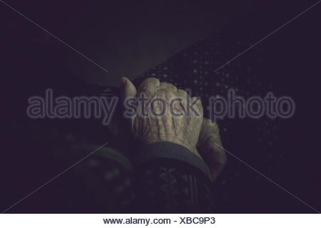 Close-Up Of Senior Woman's Hands - Stock Photo
