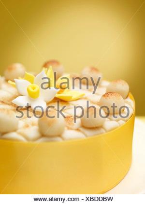Close up of decorated cake - Stock Photo