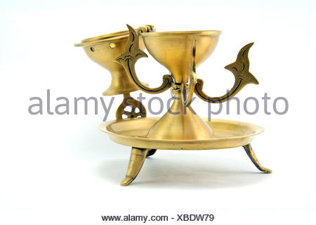 Golden Candlestick - Stock Photo