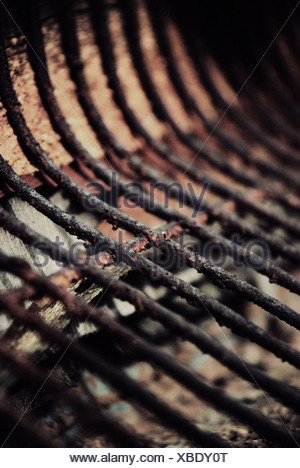 Rusty iron bars - Stock Photo