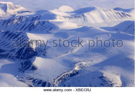 North America, Canada, Nordkanada, Nunavut, Baffin Iceland, mountain landscape, the Arctic, - Stock Photo