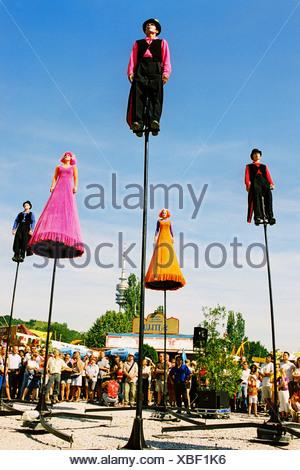 Summer Tollwood festival Munic Germany - Stock Photo