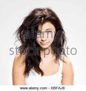woman who just woke up - Stock Photo