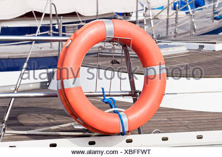 life exist existence living lives boat saver device security safety rowing boat - Stock Photo