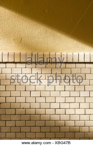 olds monochrome tiled wall - Stock Photo