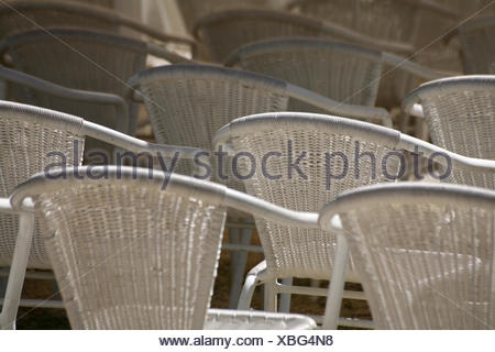 ... blank european caucasian chairs outside lean seating seats array theatre style - Stock Photo & chairs lean seating seats array theatre style justified orderly grey ...