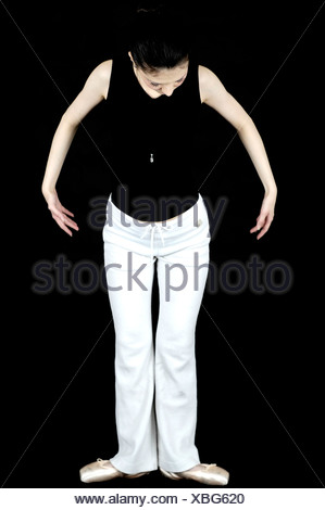 Female dancer in a dance pose - Stock Photo