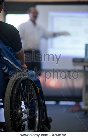 Disability sports training class - Stock Photo
