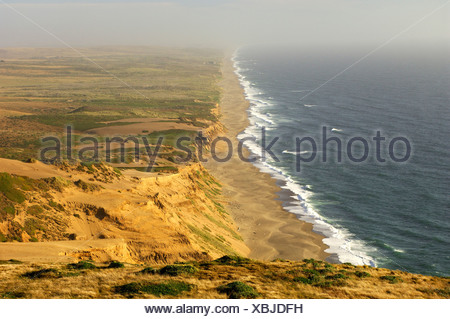 Usa Point Reyes Station California Beach At Point Reyes National Seashore Near Point Reyes Station Shore Shoreline Coast Sea - Stock Photo