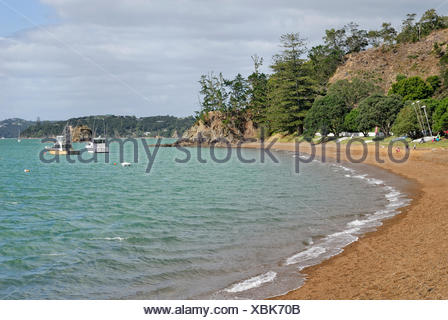 The Strand, beach, Russell, Bay of Islands, North Island, New Zealand - Stock Photo